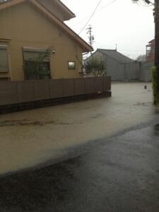2013年9月4日、名古屋市の局地的豪雨が凄かった。