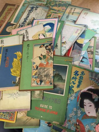 吉田初三郎の鳥瞰図大量入荷。名古屋市守山区で鳥瞰図や戦前鉄道案内図を買取しました。