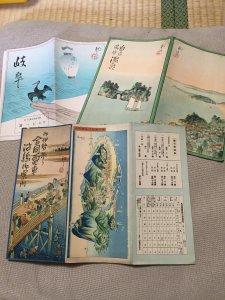またまた入荷、初三郎。三重県桑名市で鳥瞰図、鉄道案内図、旧車パンフなどの紙物を買取させて頂きました。