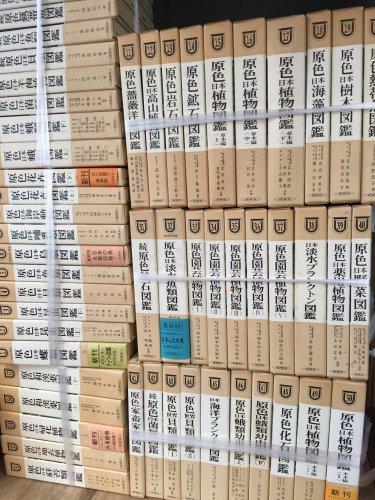 保育社原色図鑑、書道本、原色法帖選などを出張買取しました。